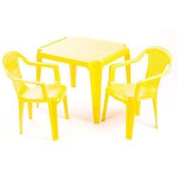 stolik i dwa krzesła dla dzieci, żółte marki Grand soleil