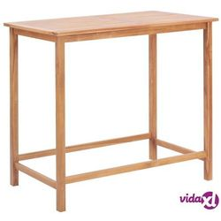 Vidaxl stolik barowy do ogrodu, 120x65x110 cm, lite drewno tekowe (8718475708025)