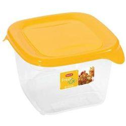 zestaw pojemników kwadratowych fresh&go 3x1,2l - żółty, marki Curver