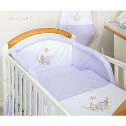 MAMO-TATO pościel 2-el Miś w hamaku w fiolecie do łóżeczka 60x120cm, kup u jednego z partnerów
