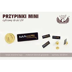 Przypinki/pinsy mini z twoim logo - kolorowy druk uv - ps009 wyprodukowany przez Grawernia.pl - grawerowanie i