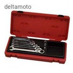 Zestaw kluczy płasko-oczkowych z mechanizmem ratel - 12 sztuk, 910033B