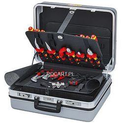 KNIPEX Walizka narzędziowa dla elektryków E-Check, 23 części, narzędzia izolowane (00 21 30), 00 21 30