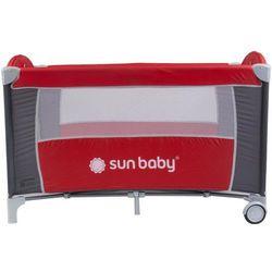 Sun baby Łóżeczko jednopoziomowe sweet dreams czerwone  sd707/gc, kategoria: łóżeczka turystyczne