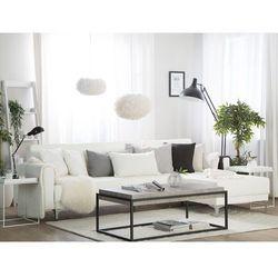 Beliani Sofa modułowa rozkładana skóra ekologiczna biała lewostronna aberdeen