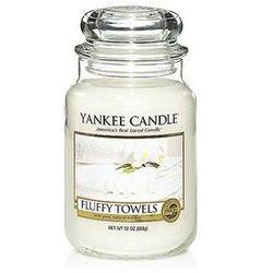 YANKEE CANDLE ŚWIECA - Fluffy Towels / Puszyste Ręczniki - duży słoik (5038580003789)