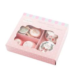 Zestaw papierowe foremki ozdobne wykałaczki muffin marki Home