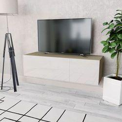 szafka pod tv, 120x40x34cm, płyta wiórowa, kolor dębowy i biały marki Vidaxl