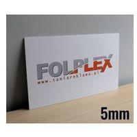 Druk uv na pcv spienionym 5mm z materiałem marki Folplex