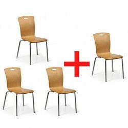B2b partner Fotel do jadalni rita, naturalne, 3+1 gratis