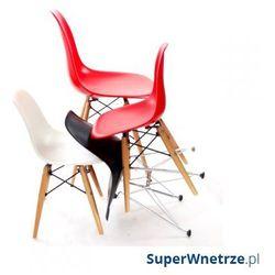 Krzesło juniorp016 białe,drewniane nogi marki D2