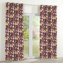 zasłona na kółkach 1 szt., żółto-brązowe kwiaty, 1szt 130x260 cm, wyprzedaż do -30% marki Dekoria