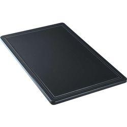 Deska do krojenia GN 1/1, z wycięciem, czarna | STALGAST, 341537