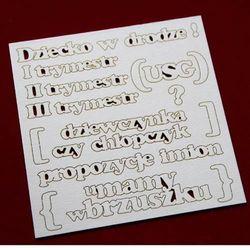 Zestaw słów - ciąża - 13,8x13,8 cm - 02 marki Scrapiniec