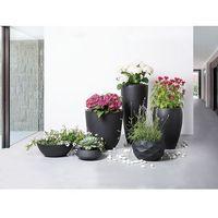 Doniczka czarna - ogrodowa - balkonowa - ozdobna - 30x30x24 cm - MAGGIORE