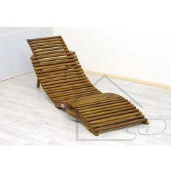 1 Leżak/krzesło plażowe wykonane z drewna akacjowego