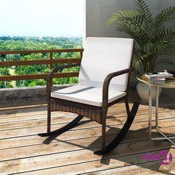 vidaXL Fotel bujany ogrodowy, rattan PE, brązowy