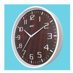 Atrix Zegar ścienny biały drewniana tarcza #3