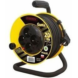 Kobi light Przedłużacz bębnowy 4gn 20m 3x1mm w gumie (pzb1-40-20g/1) 5902694041022 - - rabat w koszyku