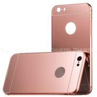 Aluminiowy pokrowiec Metal Mirror Bumper lusterko iPhone 7 Plus różowy - Różowy - sprawdź w wybranym skle