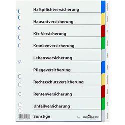 Przekładki do segregatora a4 10 stron 5-kolorowe 6741-27 marki Durable