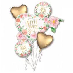 Amscan Bukiet balonów foliowych sweet baby girl - 1 kpl.