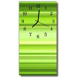 Zegar Szklany Pionowy Sztuka Wzór grafika zielony, kolor zielony