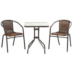 Meble ogrodowe summer black/brown 2+1 60x60 wyprodukowany przez Home garden
