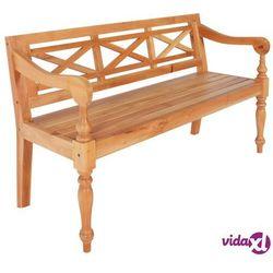 Vidaxl ławka batavia, 136 cm, lite drewno mahoniowe, jasnobrązowa (8718475623151)