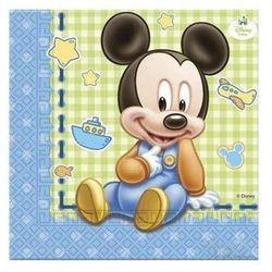 Procos Serwetki urodzinowe mały mickey - 33 cm - 20 szt. (5201184843475)
