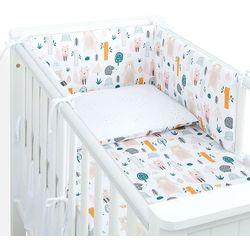 3-el dwustronna pościel dla niemowląt lux do łóżeczka 60x120 forest / pieguski beż marki Mamo-tato