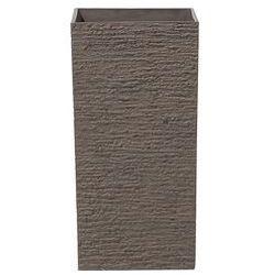 Doniczka ciemnobrązowa kwadratowa 30 x 30 x 60 cm gaza marki Beliani