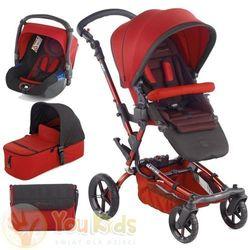 Od YouKids Zestaw Jane EPIC 3w1 wózek + gondola MICRO + fotelik KOOS - s53 red