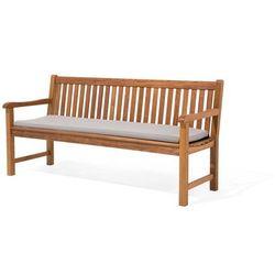Beliani Poducha na ławkę toscana/java szaro-beżowa 169 x 50 x 5 cm