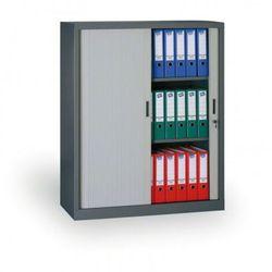 Szafa metalowa z żaluzjowymi drzwiami, 1200x1200x450 mm marki B2b partner