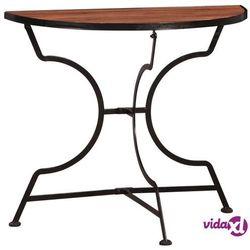 Vidaxl stolik bistro, 85x43x75 cm, lite drewno akacjowe (8718475729495)