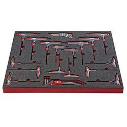 Vigor Zestaw narzędzi turn,wkrętak z uchwytem t, 32-częściowy, we wkładce z twardej pianki