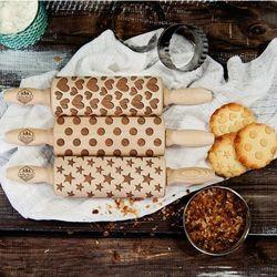 Mygiftdna Shapes - zestaw 3 mini wałki do ciasta - shapes - zestaw