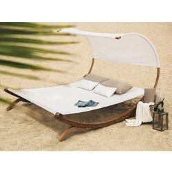 Beliani Leżak ogrodowy z drewna modrzewiowego - beżowy teramo (7105273707649)