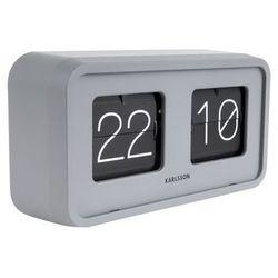 :: zegar klapkowy flip bold biały - biały marki Karlsson