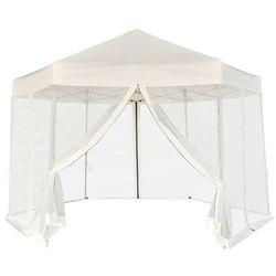 namiot ogrodowy z 6 panelami bocznymi kremowy 3,6x3,1 m marki Vidaxl