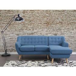 Sofa niebieska - kanapa - tapicerowana - naroznik - MOTALA z kategorii Sofy