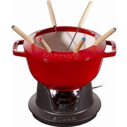 Staub garnek do fondue 20cm wiśniowy