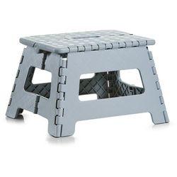 Składany stołek - taboret, antypoślizgowy, kolor szary, ZELLER, B0072CX9AM