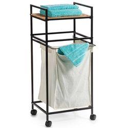 Mobilny kosz na pranie - wózek z bambusową półką, ZELLER
