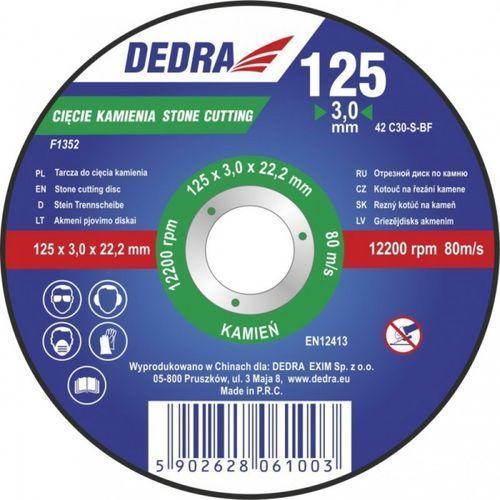 Tarcza do cięcia DEDRA F1355 230 x 3 x 22.2 do kamienia z kategorii tarcze do cięcia