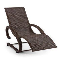 daybreak leżak bujany relaksacyjny brązowy aluminium technorattan marki Blumfeldt