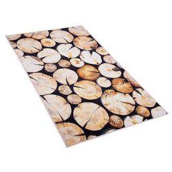 Dywan brązowy drewno 80 x 150 cm krótkowłosy KARDERE (4251682200288)