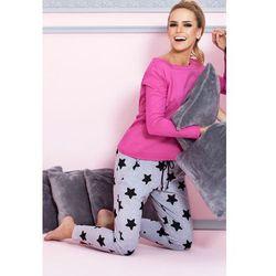 P-504/1 piżama z długimi spodniami w gwiazdki, ciemny róż - różowy ciemny wyprodukowany przez Pigeon