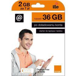 Starter ORANGE Free Na Kartę 2 GB 7zł (doładowanie)